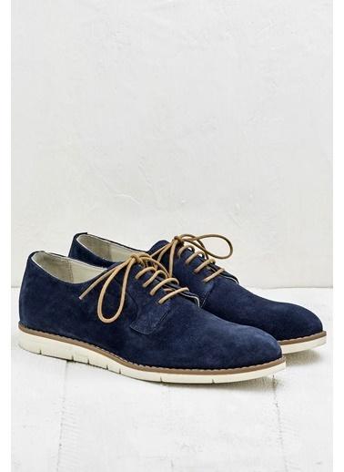Elle Bağcıklı Ayakkabı Lacivert